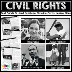 Civil Rights Movement Heroes-  Text and lesson plans for students to create an informational brochure.