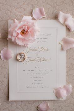 Elegant detail of gold and white wedding invitation with border for Cincinnati wedding. Stationery by Poeme. Blush Wedding Stationery, Wedding Story, Wedding Gallery, Wedding Programs, Cincinnati, Letterpress, Reception, Place Card Holders, Elegant