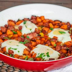 Sweet Potato Hash . Get rid of the eggs and it's perfection!