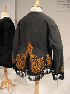 2012-08-25 KSMF -  Black wool jacket trimmed with gold braid, circa 1862.