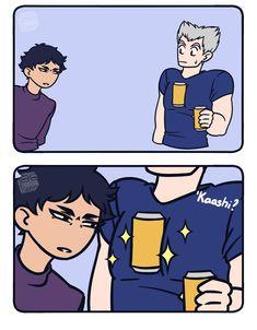 silly-drawings-by-sugar: I just saw this post and. Haikyuu Funny, Haikyuu Ships, Haikyuu Fanart, Haikyuu Volleyball, Volleyball Anime, Anime Manga, Anime Guys, Manhwa, Neymar