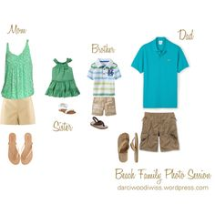 "What to Wear ""Beach Family Photo Session Clothing Inspiration"" by luvpugs on Polyvore"