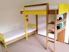 Sort of bunk: Do-it-your-Dutch-Design by Neo-Eko. | Zelfbouw stapelbed 'Thor' met handleiding van meubelwerktekening.nl
