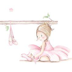 Little Ballerina, Ballerina Nursery, Baby Posters, Nursery Prints, Cute Illustration, Baby Decor, Animals For Kids, Beautiful Artwork, Cute Drawings