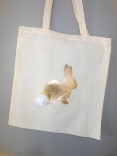 Tote bag - Bunny rabbit tote bag - Bunny rabbit shopping bag - Easter gift bag by LittlePaxtons on Etsy Easter Gift Bags, Jute Bags, Bunny Bags, Easter Garden, Bunny Painting, Printed Bags, Diy Tote Bag, Reusable Tote Bags, Kids Bags