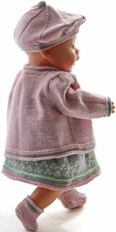 18 inch doll dress knitting pattern - Lovely summer clothes for happy, bright summer-days Baby Born Clothes, Girl Doll Clothes, Girl Dolls, Doll Dress Patterns, Skirt Patterns Sewing, Clothing Patterns, Baby Hat Knitting Pattern, Baby Knitting, Knitting Patterns