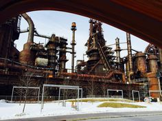 Blast furnaces at SteelStacks! Photo by Morgan Harris