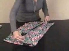How to fold nightgown.  1 min.