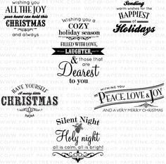 Happiest of Holidays Stamp Set: Papertrey Ink Clear Stamps Dies Paper Ink Kits Ribbon