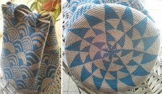 Nina's Fans Bag - tapestry crochet