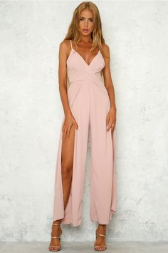 0380ac0f039 Assess The Situation Jumpsuit Dusty PInk