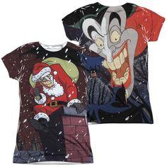 Batman The Animated Series Joker Claus Junior All Over Print 100% Poly T-Shirt