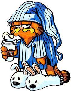 Garfield's coffee & sleep mode ON.