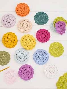 Hanging Crochet Summer Flowers ~ free pattern