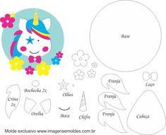 Molde de Unicórnio 11 para Feltro – EVA e Artesanato, Molde de Unicórnio 11 para EVA - Feltro e Artesanato, Molde de Unicórnios Felt Diy, Felt Crafts, Diy And Crafts, Unicorn Names, Felt Templates, Horse Party, Unicorns And Mermaids, Cross Stitch Boards, Unicorn Crafts