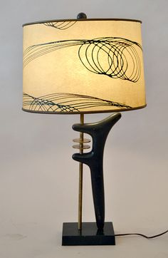 Noguchi styled lamp Love the form and the base! Next on my list to hunt down. Mid Century Decor, Mid Century House, Mid Century Style, Mid Century Furniture, Mid Century Design, Funky Lamps, Cool Lamps, Lamp Light, Light Up