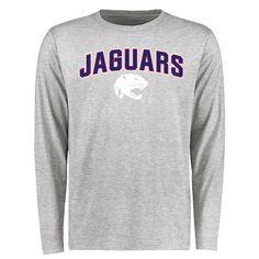 South Alabama Jaguars Proud Mascot Long Sleeve T-Shirt - Ash - $37.99