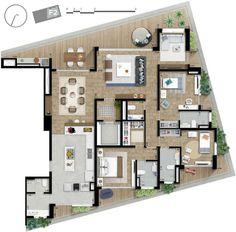 Planta - Apartamento 206 metros quadrados