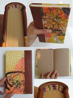 handmade book with matching hand sewn headbands Fanny Pageaud