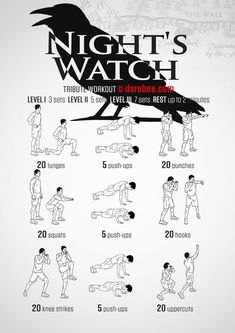 Night's Watch Workout - When you are all that stands between the Seven Kingd. - Perfect İdeas For Doing Exercise Nerd Fitness, Sport Fitness, Fitness Motivation, Fitness Fun, Workout Fitness, Hero Workouts, Gym Workouts, At Home Workouts, Neila Rey Workout