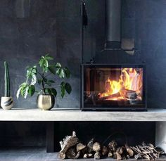 So much texture and beautiful colour palette in this gorgeous hearth and interior design by the Design Frank and SGroup Official. Open Fireplace, Fireplace Design, Snug Room, Freestanding Fireplace, Wood Burner, Hearth, Great Rooms, New Homes, House Design