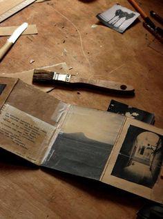 the SOUTH * a new travel-log book coming ! Sketchbook Inspiration, Art Sketchbook, Classe D'art, Concertina Book, Poesia Visual, Buch Design, Artist Journal, Book Sculpture, Up Book