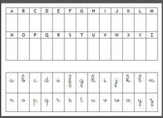 """Résultat de recherche d'images pour """"lettres cursives à découper coller dans l'abécédaire"""""""