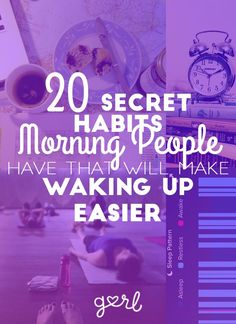 Have you ever wondered what it's like to be a morning person? I have. It must be so nice to wake up bright and early, smile while you open your eyes, then get r