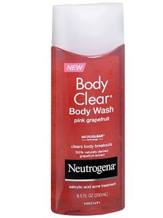 This body wash does double-duty: It treats zits as it cleanses your skin. So, if you prefer a liquid sudser over bar soap, this one also contains salicylic acid to help prevent breakouts.  Neutrogena Body Clear Body Wash, $8.29, walgreens.com Courtesy Image -Cosmopolitan.com