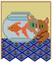 Fish Eyes Pattern at Sova-Enterprises.com Lots of Free Beading Patterns and tutorials are available!