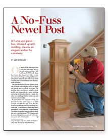 Creating (or recreating in this case) an accurate newel can add so much to your home's architectural detailing.