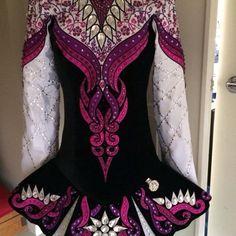 **Sew Irish**Irish Dance Solo Dress Costume** I really like the flower embroidery on the shoulders