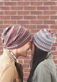 basic beanies, free knitting pattern by patons