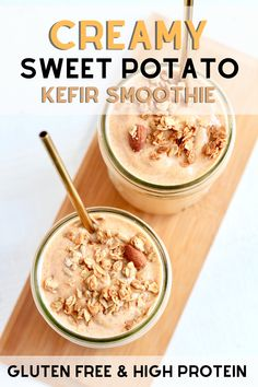 Sweet Potato Smoothie, Raw Sweet Potato, Canned Pumpkin, Pumpkin Puree, Easy Smoothies, Smoothie Recipes, Kefir Benefits, Pumpkin Smoothie, Cooking Sweet Potatoes