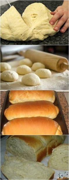 Pão Caseiro super fácil ❤ VEJA AQUI>>>Em uma tigela adicione o fermento biologico, 2 colheres de farinha de trigo, 2 colheres de açúcar e um copo de leite morno, mexa. #MASSAS#PÃES#CASEIRO