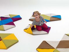Origami-inspired Zip Rugs by Mut Design Studio