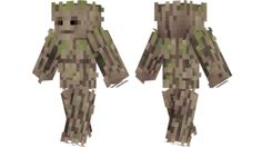 Groot Marvel Minecraft skin