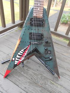 Dean Dave Mustaine VMNT Guitar. Custom Bomber pain... - Harmony Central