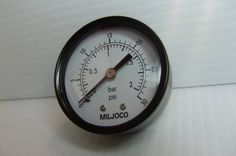 "You are buying one new Miljoco 30 PSI Gauge. Photos show the item for sale.      Type: 2""     Range: 30 PSI     Conn: 1/4"" NPT"