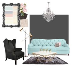 """""""Chillin"""" by manakel on Polyvore featuring interior, interiors, interior design, home, home decor, interior decorating, Gold Sparrow, Kate Spade, GO Home Ltd. and Allstate Floral"""