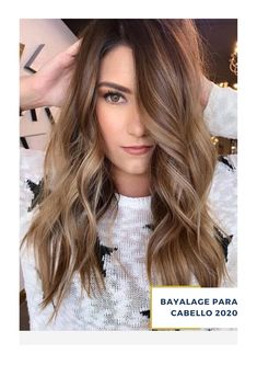 Long Wavy Ash-Brown Balayage - 20 Light Brown Hair Color Ideas for Your New Look - The Trending Hairstyle Chocolate Brown Hair Color, Hair Color Caramel, Brown Ombre Hair, Brown Hair Balayage, Bayalage, Light Brown Hair, Brown Hair Colors, Dark Brown, Hair Colour