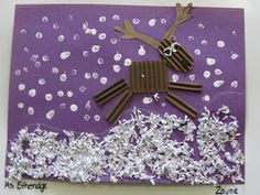 Love this reindeer - simple shapes that can be assembled to depict different movements/activities/poses.