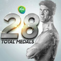 The final tally. What a legacy for Michael Phelps. Us Gymnastics Team, Olympic Gymnastics, Olympic Sports, Olympic Athletes, Michael Phelps 2016, Michael Phelps Body, Nbc Olympics, Rio Olympics 2016, Summer Olympics
