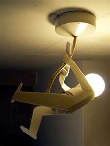 What a fun light used in a boy's room or perhaps office....