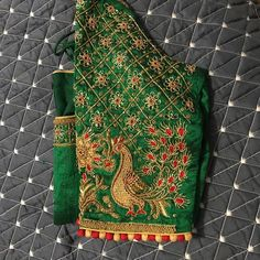 Indian Bridal Sarees, South Indian Sarees, Wedding Sarees, Saree With Belt, Saree Belt, Saree Blouse Designs, Blouse Styles, Zardosi Work Blouse, Long Frocks For Kids