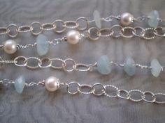 Long Silver Seas Necklace by smisko on Etsy, $82.00