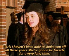 "When Paris and Rory reminisced on their seven-year friendship at their Yale graduation. | 47 Moments Every ""Gilmore Girls"" Fan Will Never Get Over"