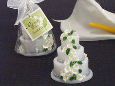 Wedding Accessories - Calla Lily Theme Scented Wedding Cake Candle - I love these wedding candle favors -- they are super cute!