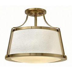"Hinkley Charlotte 16"" Wide Brushed Caramel Ceiling Light - #5D270 | www.lampsplus.com"