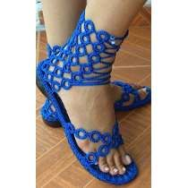 sandalias tejidas a crochet - Buscar con Google